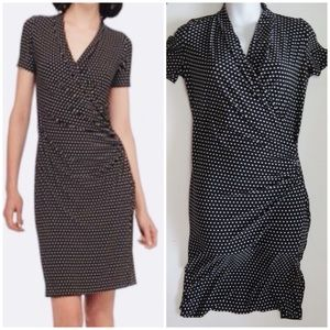Norma Kamali b/w faux wrap dress size small
